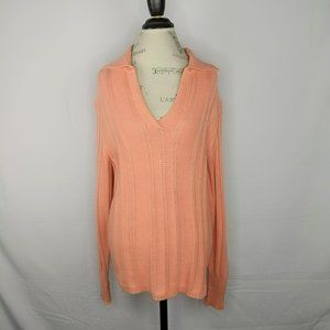 Vintage Escada Coral Cashmere Cable Knit Sweater